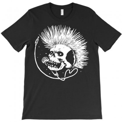 Skull Punk T-shirt Designed By Quilimo