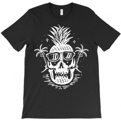 Skull Pineapple T-shirt Designed By Quilimo