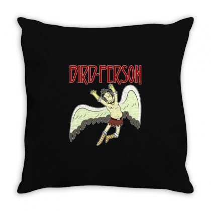 Bird Person Throw Pillow Designed By M0ch