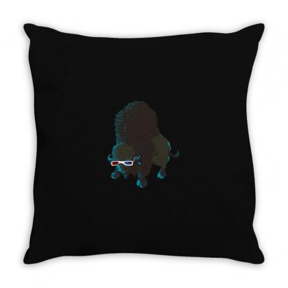 Bison Throw Pillow Designed By M0ch