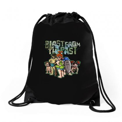 Blast From The Past Drawstring Bags Designed By M0ch