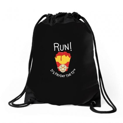 Bloody Fryday The 13th Drawstring Bags Designed By M0ch