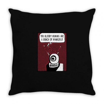 Bloody Humans! Throw Pillow Designed By M0ch