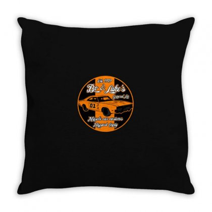 Bo And Luke Customs Throw Pillow Designed By M0ch