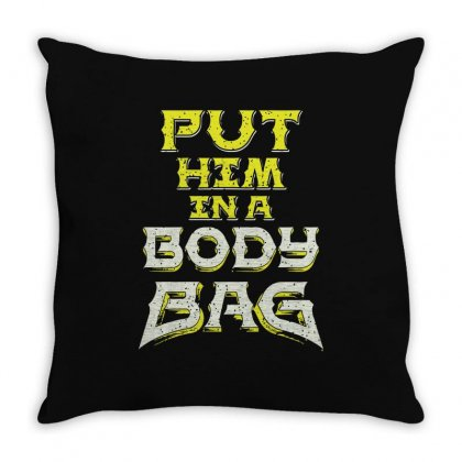 Body Bag Throw Pillow Designed By M0ch
