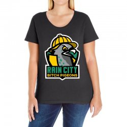 rain city bitch pigeons Ladies Curvy T-Shirt | Artistshot