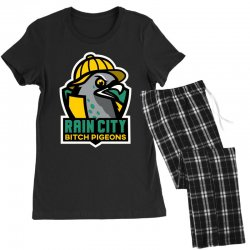 rain city bitch pigeons Women's Pajamas Set | Artistshot