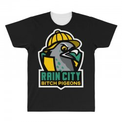 rain city bitch pigeons All Over Men's T-shirt | Artistshot