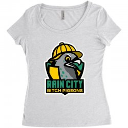 rain city bitch pigeons Women's Triblend Scoop T-shirt | Artistshot