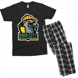 rain city bitch pigeons Men's T-shirt Pajama Set | Artistshot