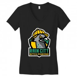 rain city bitch pigeons Women's V-Neck T-Shirt | Artistshot