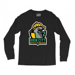 rain city bitch pigeons Long Sleeve Shirts | Artistshot