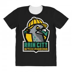 rain city bitch pigeons All Over Women's T-shirt | Artistshot