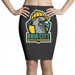 rain city bitch pigeons Pencil Skirts | Artistshot