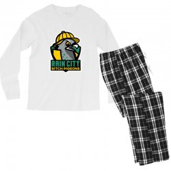 rain city bitch pigeons Men's Long Sleeve Pajama Set | Artistshot