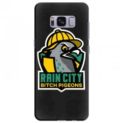 rain city bitch pigeons Samsung Galaxy S8 Plus Case | Artistshot