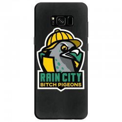 rain city bitch pigeons Samsung Galaxy S8 Case | Artistshot