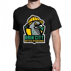 rain city bitch pigeons Classic T-shirt | Artistshot