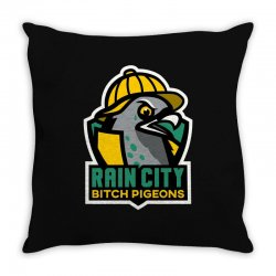 rain city bitch pigeons Throw Pillow | Artistshot