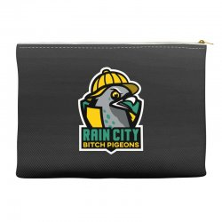 rain city bitch pigeons Accessory Pouches | Artistshot