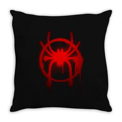 Spider Man  Into The Spider Verse Throw Pillow Designed By Toweroflandrose