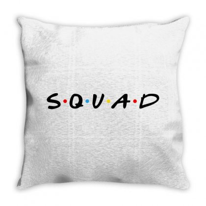 Squad Friends Parody Throw Pillow Designed By Toweroflandrose