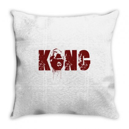 King Kong Throw Pillow Designed By Tee Shop