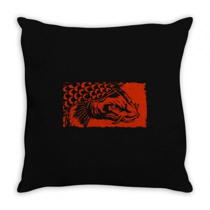 Koi Fish Lover Throw Pillow Designed By Tee Shop