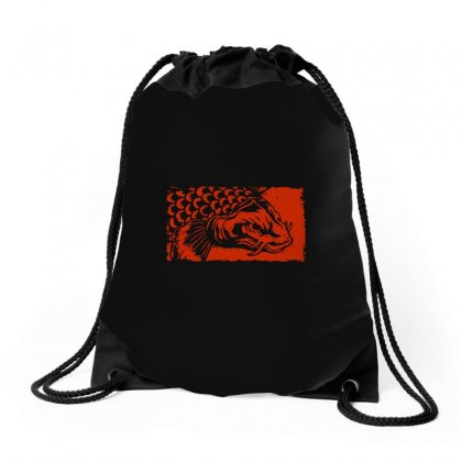 Koi Fish Lover Drawstring Bags Designed By Tee Shop