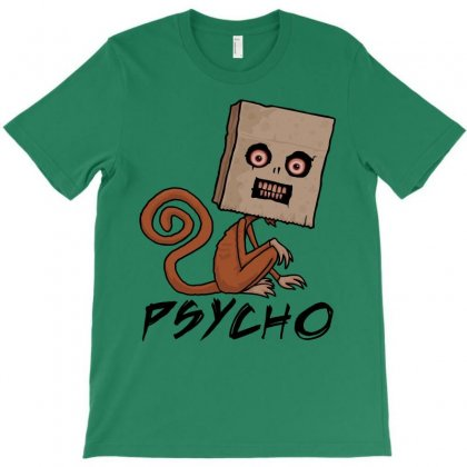 Psycho Sack Monkey With Text T-shirt Designed By Fizzgig