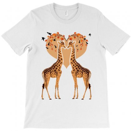 Giraffe Love For Light T-shirt Designed By Nurbetulk