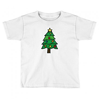 Christmas Tree Illustration Funny Tshirt Toddler T-shirt Designed By Alex