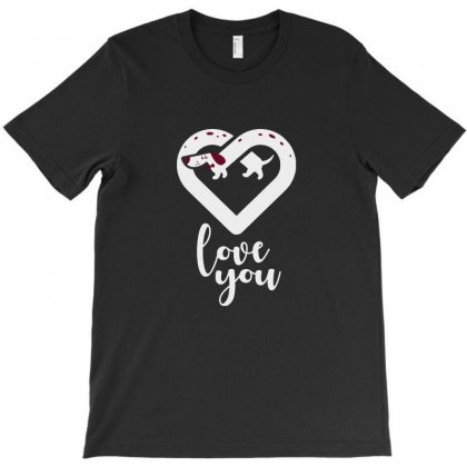 Love You Dachshund Dog T-shirt Designed By Tee Shop