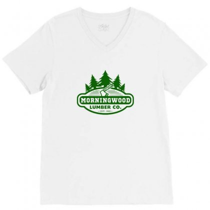 Morning Wood T Shirt Offensive T Shirt Saying Morningwood Lumber Compa V-neck Tee Designed By Tee Shop
