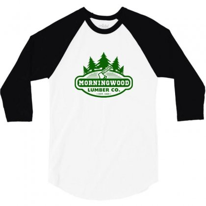 Morning Wood T Shirt Offensive T Shirt Saying Morningwood Lumber Compa 3/4 Sleeve Shirt Designed By Tee Shop