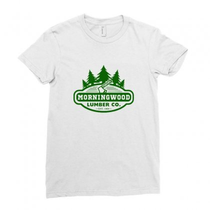 Morning Wood T Shirt Offensive T Shirt Saying Morningwood Lumber Compa Ladies Fitted T-shirt Designed By Tee Shop
