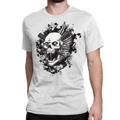 Sealed Vampire Skull Classic T-shirt Designed By Specstore