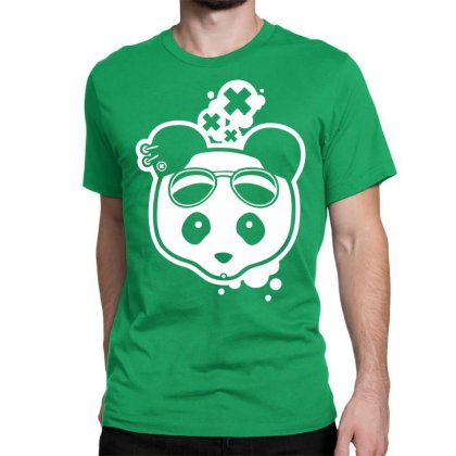 Super Hippies Panda Classic T-shirt Designed By Specstore