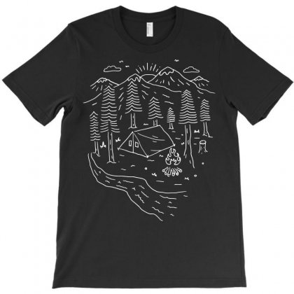 Let's Go Camping (for Dark) T-shirt Designed By Quilimo