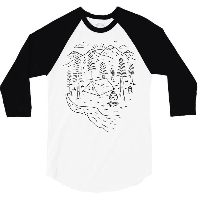 903456f82eeaa Custom Let's Go Camping (for Light) 3/4 Sleeve Shirt By Quilimo ...