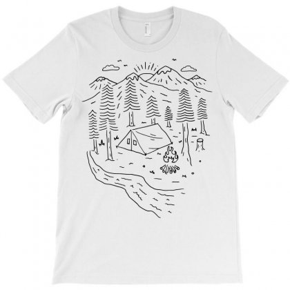 Let's Go Camping (for Light) T-shirt Designed By Quilimo