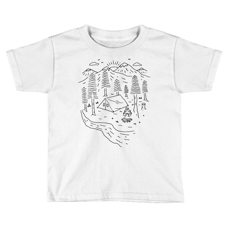 f5d6ac8e21229 Custom Let s Go Camping (for Light) Toddler T-shirt By Quilimo ...
