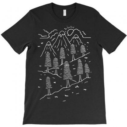 Hiking Trails (for Dark) T-shirt Designed By Quilimo