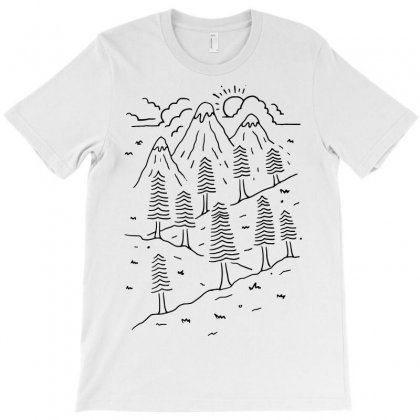 Hiking Trails (for Light) T-shirt Designed By Quilimo