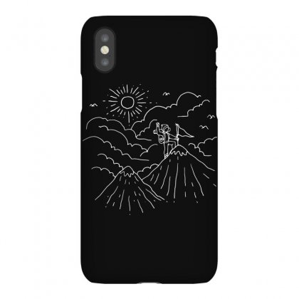 Mountain Hiker (for Dark) Iphonex Case Designed By Quilimo