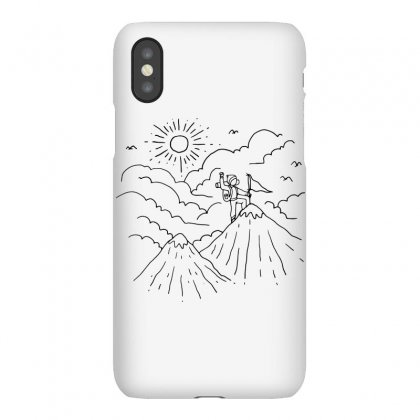 Mountain Hiker (for Light) Iphonex Case Designed By Quilimo