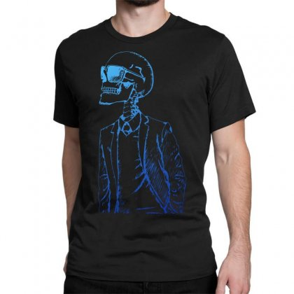 Gentleman Skull Classic T-shirt Designed By Specstore