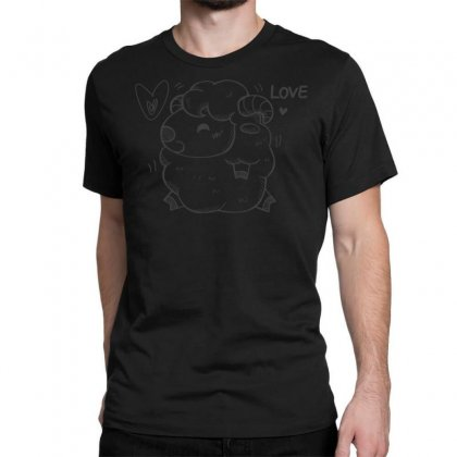 Happy Love And Life Sheep Classic T-shirt Designed By Specstore