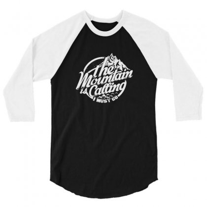 Mountain Calling 3/4 Sleeve Shirt Designed By Tee Shop
