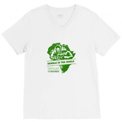 Muhammad Ali T Shirt Rumble In The Jungle Poster Ali Vs Foreman Tshirt V-neck Tee Designed By Tee Shop